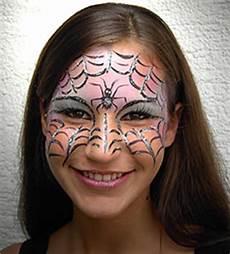 Schminken Spinne - schminken spinnennetz