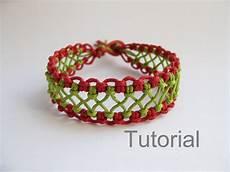 Makramee Armband Anleitung - macrame bracelet pattern tutorial pdf green