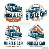 Vector Pack Of Muscle Car Logo Design