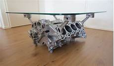 Jaguar V8 Engine Block Coffee Table 80 X 80 X 35 Cm