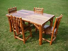 rustic kitchen furniture sassafras walnut rustic log kitchen table 4 chairs amish