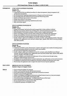 linux network enginer resume linux support engineer resume sles velvet