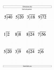 easy division worksheets no remainders 6291 single digit division no remainders worksheet division worksheets