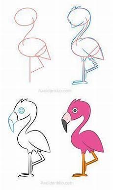 Comment Dessiner Un Flamant How To Draw A Flamingo Comment Dessiner Un Flamant