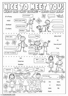 esl activities worksheets 15438 greetings and farewells interactive and downloadable worksheet you can do the exercis ingles