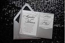 Silver Pocket Wedding Invitations
