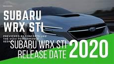 2020 subaru wrx sti release date