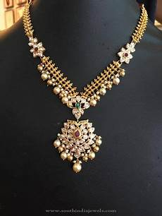 22k gold stone necklace with pearls gold stone necklace