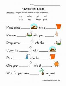 free printable worksheets on plants for grade 3 13687 seeds plants worksheet fill in the blanks