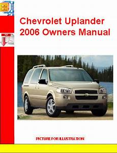 car repair manuals online pdf 2006 chevrolet suburban 2500 lane departure warning chevrolet uplander 2006 owners manual download manuals tech