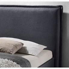 lit ovale adulte lit adulte contemporain en tissu gris ovali
