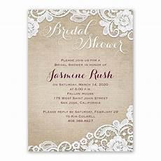 Lace Wedding Shower Invitations