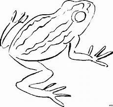 frosch oben mit streifen ausmalbild malvorlage tiere