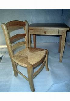 bureau et chaise enfant en ch 232 ne la chaise artisanale