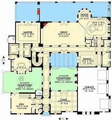 tuscan style house plans with courtyard tuscan home with two courtyards 16377md architectural