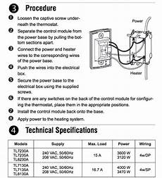 honeywell baseboard thermostat wiring diagram line voltage thermostats for heating cooling