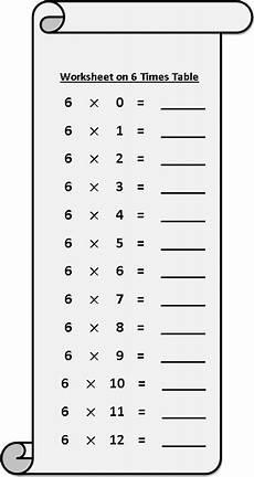 multiplication worksheets of 6 4538 worksheet on 6 times table printable multiplication table 6 times table