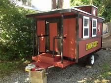 Custom Made Caboose Camper Teardrop  Used Built