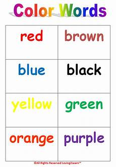 colors printable word 12830 print out color in words learning new words colors chart word cards book and learning