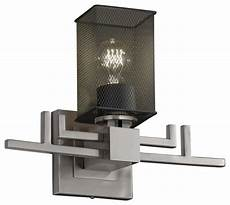 wire aero 1 light wall sconce with square flat rim shade transitional wall sconces