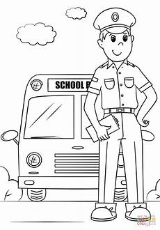 Driver Coloring School Driver Coloring Page Free Printable Coloring