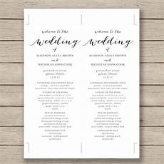 72 wedding program template free word pdf psd documents download free premium templates