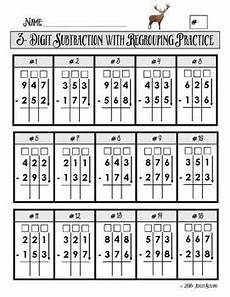 addition box worksheets 8793 3 digit subtraction with regrouping practice worksheet math subtraction math drills math