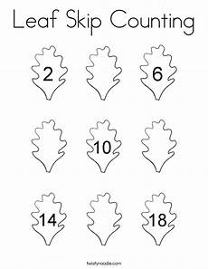 skip counting coloring worksheets 11891 leaf skip counting coloring page twisty noodle