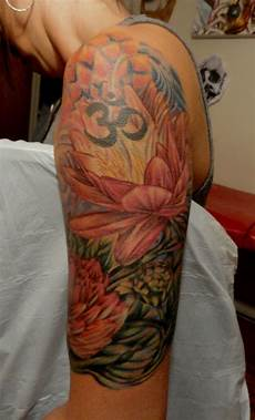 Lotus Flower Half Sleeve Tattoos I Done