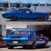 BecauseSS 70 Chevelle Blue Black Pro Touring Painted