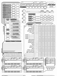 star wars saga edition character sheet star wars rpg saga edition custom character sheet weapons history armour