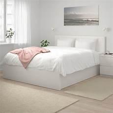malm ottoman bed white ikea