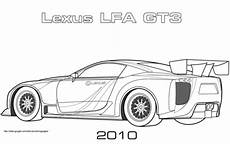 2010 lexus lfa gt3 coloring page free printable coloring