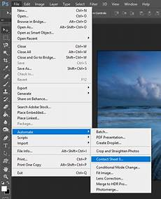 how to make a contact sheet photoshop and windows