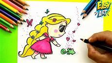 Como Dibujar A Rapunzel Cute Disney Enredados How To