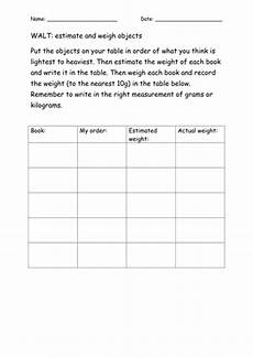 estimation worksheets tes 8147 weight estimation and ordering worksheet teaching resources