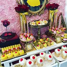 la table a dessert and the beast themed bridal shower wedding