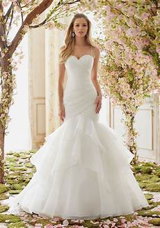 crystal beaded straps on organza wedding dress style 6833 morilee