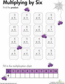multiplication worksheets of 6 4538 multiplying by six worksheet education
