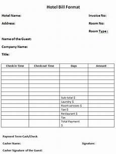 6 hotel bill formats in word website wordpress blog