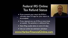 federal irs online tax refund status for 2012 2013 youtube