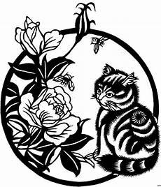 Malvorlagen Fensterbilder Blumen Japanische Kleine Katze Ausmalbild Malvorlage Blumen