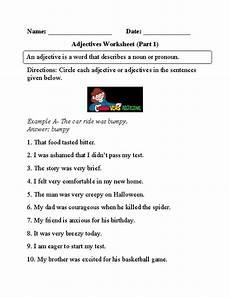 circling adjectives worksheet part 1 adjective worksheet