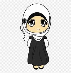 20 Gambar Kartun Lucu Wanita Muslimah Bergerak Lucu