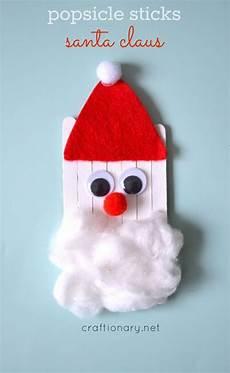 popsicle sticks santa claus craft