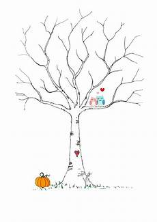 Malvorlage Baum Hochzeit Fingerabdruck Baum Vorlage Andere Motive Kostenlos Zum