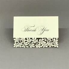thank you place cards template laser cut thank you card clara white 25 cards