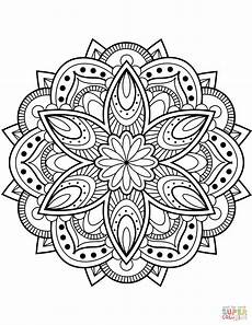 mandalas colouring pages 17853 flower mandala coloring page free printable coloring pages