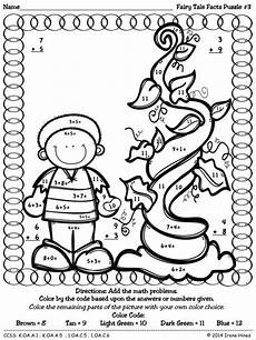 tales worksheets for kindergarten 14995 tale facts color by the number code math puzzles to practice number recognition basic