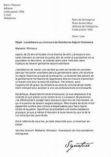 Exemple Lettre De Motivation Gendarmerie